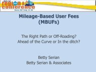 Mileage-Based User Fees (MBUFs) - American Association of Motor ...