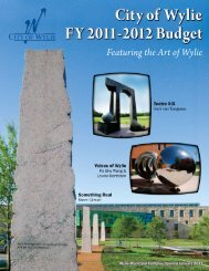 Fiscal Year 2011-2012 Budget - City of Wylie