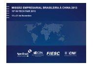 MISSÃO EMPRESARIAL BRASILEIRA À CHINA 2013 - Fiesc
