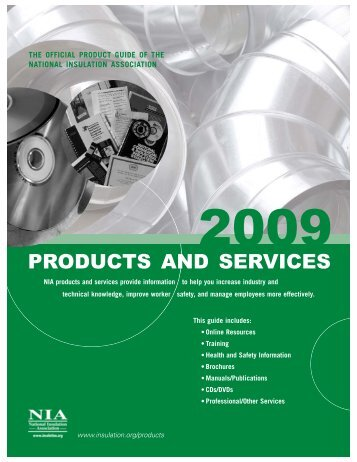 Products & Services 2009.qxp - Programs.insulation.org - National ...