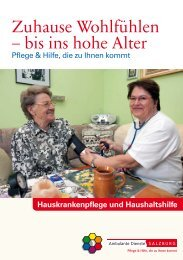 Zuhause Wohlfühlen – bis ins hohe Alter - Ambulante Dienste ...
