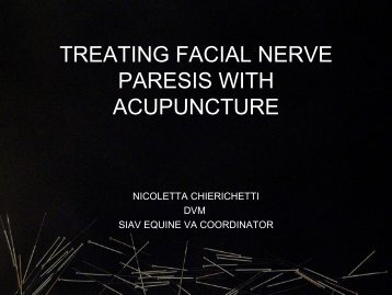 Treating Facial Nerve Paresis with Acupuncture - SIAV