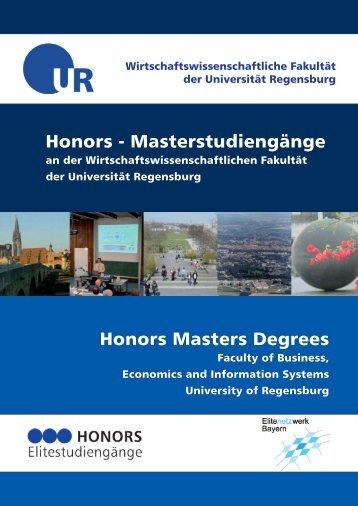 Informationsbroschüre zum Honors-Master