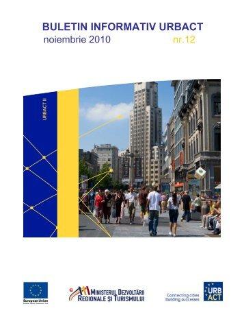 Buletin informativ URBACT nr. 12 - noiembrie 2010 - Infocooperare