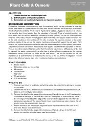 PLANT CELLS & OSMOSIS - QUT