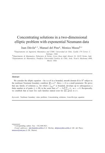 Concentrating solutions in a two-dimensional elliptic ... - CAPDE