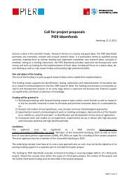 Call for project proposals PIER Ideenfonds - Desy
