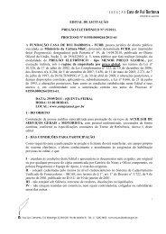EDITAL DE LICITAÇÃO PREGÃO ELETRÔNICO Nº 15/2011 ...