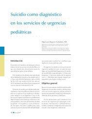Suicidio como diagnóstico en los servicios de urgencias pediátricas