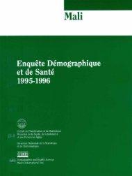 Mali Enquête Démographique et de Santé 1995 ... - Measure DHS