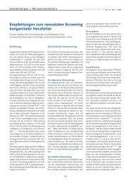 Empfehlungen zum neonatalen Screening kongenitaler Herzfehler