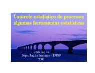 Controle estatístico de processo: algumas ferramentas ... - Sabesp