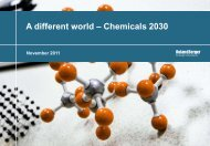 A different world – Chemicals 2030 - Roland Berger