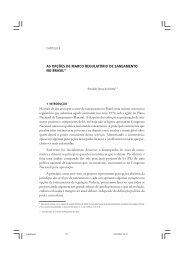 as opções de marco regulatório de saneamento no brasil - Ipea