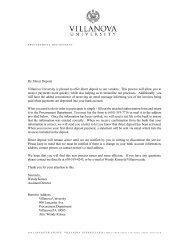 Direct Deposit Information and Form - Villanova University