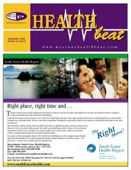 September 2001 Volume 4, Issue 9 - McCrone Healthbeat
