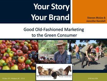 Your Story Your Brand - American Livestock Breeds Conservancy