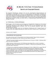 Stellungnahme FP - Fanprojekt Rostock