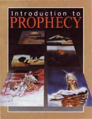 Introduction to Prophecy - Church of God - NEO