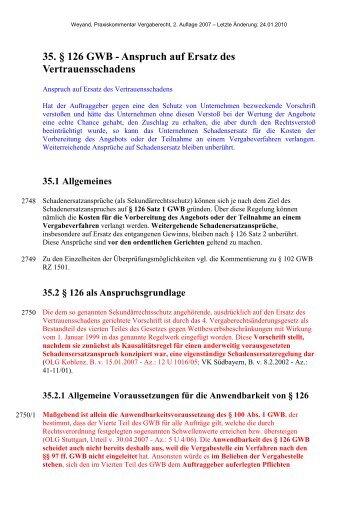 35. § 126 GWB - Oeffentliche Auftraege