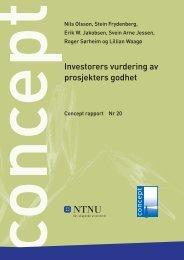 Investorers vurdering av prosjekters godhet - Concept - NTNU