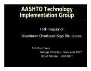 Presentation - AASHTO Technology Implementation Group
