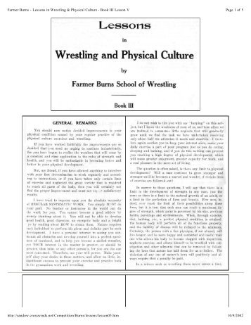 Page 1 of 5 Farmer Burns - Lessons in Wrestling & Physical Culture ...