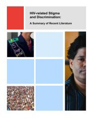 HIV-related stigma and discrimination: A summary of recent ... - unaids