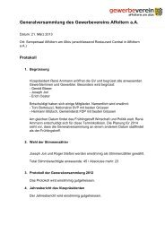 zum Protokoll - Gewerbeverein Affoltern am Albis
