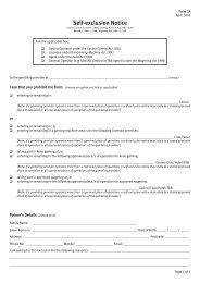 Self exclusion Notice Form 3A