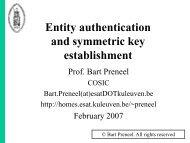 Entity authentication - Secure Application Development