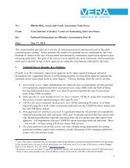Illinois Risk, Assets and Needs Assessment Task ... - State of Illinois