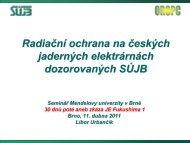 Radiační ochrana na českých jaderných elektrárnách dozorovaných ...
