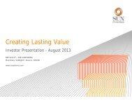 Creating Lasting Value - Sun Pharma
