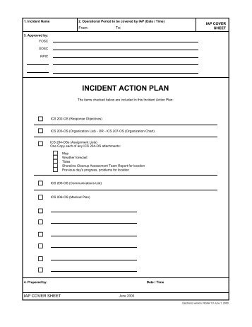 Incident Action Plan  Cal Fire
