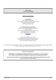 assistance carte bleue VISA PREMIER - Crédit Agricole Franche ...