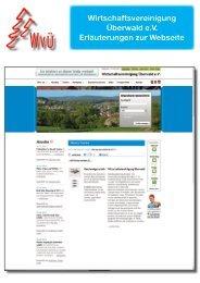 Wirtschaftsvereinigung Überwald e.V. Erläuterungen zur Webseite