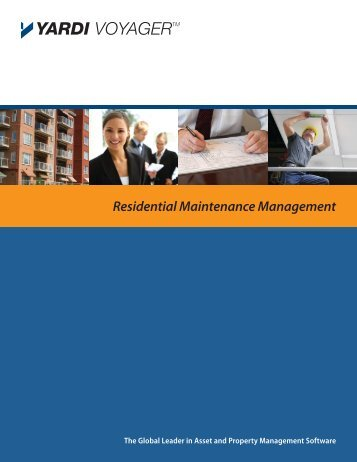 Residential Maintenance Management - Yardi