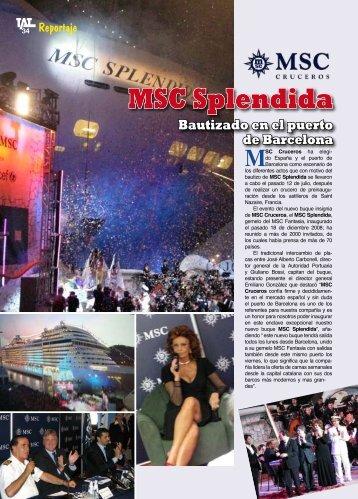 MSC Splendida Bautizado en el puerto de Barcelona - TAT Revista