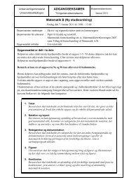 ADGANGSEKSAMEN Matematik B (Ny studieordning)