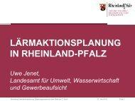 Lärmaktionsplanung in Rheinland-Pfalz.