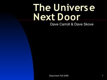Sojourners-The Universe Next Door-What is God Teaching You