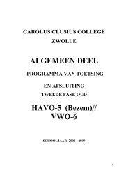 08-09 Alg.deel jaarwerkplan versie Oude Tweede Fase