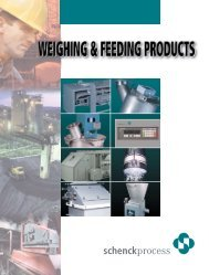 full line product brochure - Schenck Weighing Systems