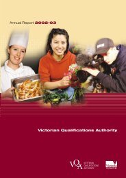 Victorian Qualifications Authority - Department of Education and ...