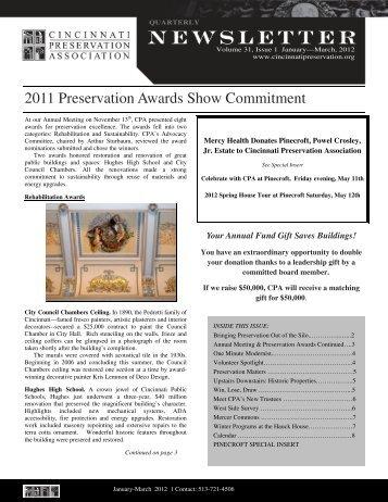First Quarter 2012 - Cincinnati Preservation Association