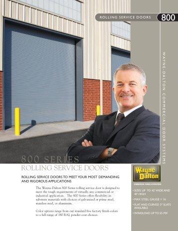 800 Series Brochure - Wayne-Dalton Commercial Home