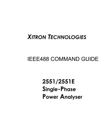 2551 Interface Command Guide