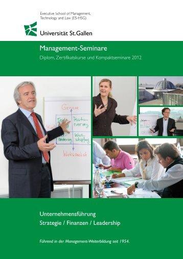 Management-Seminare - Universität St.Gallen