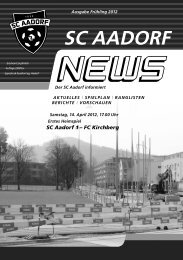 SCA-News Frühjahr 2012 - SC Aadorf